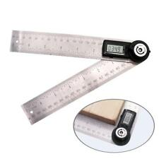Digital LCD Angle Finder Stainless Steel Rule Trend 200mm Ruler 360 Degree Gauge