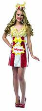 New Halloween Rasta Imposta Costume Women's Foodies Popcorn Dress with Headpiece