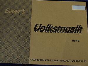 Bauer`s Volksmusik Heft 2, Es-Klarinette