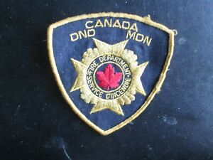 CANADA DND MDN FIRE DEPARTMENT SHOULDER PATCH