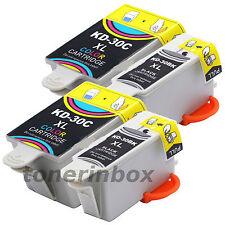 4 Pack (2 Bk/2 Color) #30XL Ink Cartridges For Kodak 30B 30C ESP C110 C310 C315