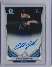 CHAD SOBOTKA Braves 2014 Bowman Chrome Draft Auto Autograph RC
