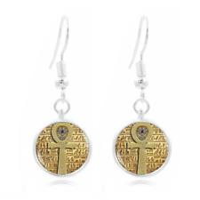 Egyptian ankh cross Photo Art Glass Cabochon 16mm Charm Earring Earring Hooks