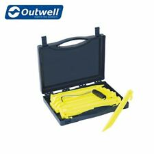 Outwell Guyline Camping Tent Awning Peg Box 14pcs FREE Extractor & Carry Case
