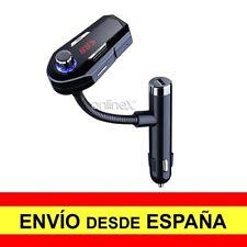 Transmisor FM BLUETOOTH REPRODUCTOR MP3 Puerto de Carga USB Mechero Coche  a2774