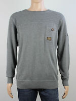 NEW Duck & Cover mens Size XL XXL grey knit crew neck jumper