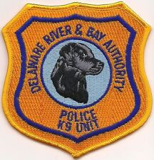 K-9  DHF  DELAWARE RIVER & BAY AUTH. Police Patch Polizei Abzeichen Hundeführer