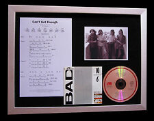 BAD COMPANY Can't Get Enough QUALITY CD MUSIC FRAMED DISPLAY+EXPRESS GLOBAL SHIP