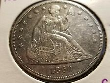 1860 O Seated Liberty Silver Dollar, full bold liberty, tough date   INV08  S143