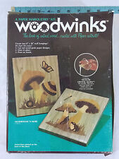 Vtg Marquetry Craft Kit-Mushrooms n More-Connoisseur Studio Woodwinks Frog