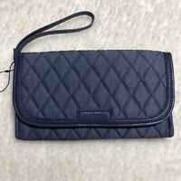 Vera Bradley Women's Blue Denim Wristlet Purse