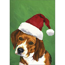 Beagle Christmas Flag