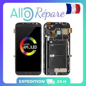 ÉCRAN LCD VITRE TACTILE SUPER AMOLED ORIGINAL sur Châssis Galaxy Note 2 N7100