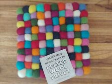 Trader Joes Hand Crafted Felted Wool Trivet Limited Holiday Item
