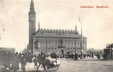 KOBENHAVN DENMARK DANEMARK RAADHUSSET~CITY HALL POSTCARD 1910s