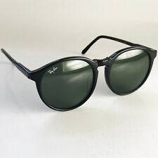 Vintage Ray Ban USA B&L TRADITIONALS B Sunglasses black round wayfarer gatsby