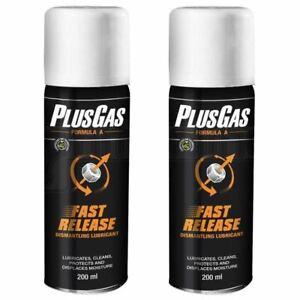 Plus Gas Releasing Fluid Aerosol Dismantle Lubricant Nuts & Bolts Kit 200ml X 2
