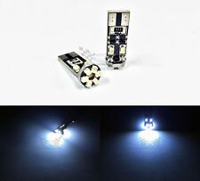 2x Error Free 168 194 T10 1210 10-SMD Canbus LED Bulbs Super White Width Lamps