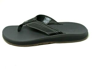 Chaco Mens Playa Pro Leather Flip Flop (Black, Sz 9) $90, HUGE Sale, Free Ship!