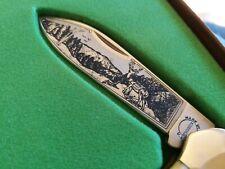 REMINGTON USA 1999 WILDLIFE  KNIFE CANOE 1 OF 1500 WITH GENUINE STAG HANDLES NIB