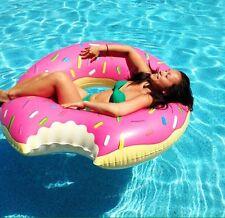 Donuts 120cm! Ciambella Gonfiabile Mare Salvagente Gigante+pompa
