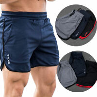 Men's Gym Training Shorts Workout Sports Casual Clothing Fitness Running Short F