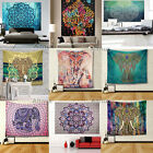 210cm Large Indian Tapestry Wall Hanging Hippie Elephant Bedspread Throw Gypsy