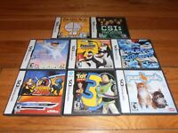 Lot of 8 Nintendo DS games, Smurfs, Kung Zhu, Toy Story 3, Purr & Pals, Dora