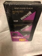 MAXELL Videocassette Tape Lot 3 HGX Gold TC-30 Special Event NEW Blank VHS Case