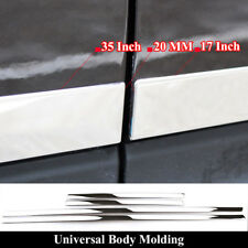 Universal Chrome Side Door Body Molding Stainless Cover Decorative Cover Trim