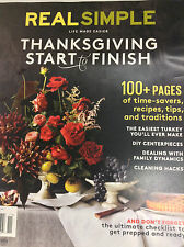 Real Simple Magazine Thanksgiving Start To Finish November 2016 071217nonr