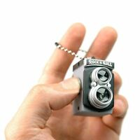 Cute Mini Double Twin Lens Reflex TLR Camera Style LED Flash Light Torch Sh P8G4