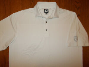 FOOTJOY WINDBER CC SHORT SLEEVE WHITE GOLF POLO SHIRT MENS XL EXCELLENT COND.