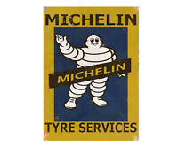 Michelin Tyre Metal Garage Sign Shed Workshop Classic Vintage Advertising Plaque