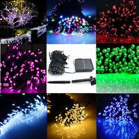 60/100/200 LED String Solar Light Garden Outdoor Xmas Party Fairy Tree Deco Lamp