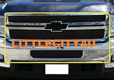 FOR 2014 14 Chevy Silverado 2500/3500 HD Black Billet Grille Grill Combo Inserts