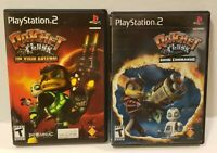 PlayStation 2 LOT Ratchet & Clank PS2 Games Going Commando + Up Your Arsenal