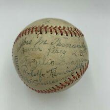 Historic 1944 New York Cubans Negro League Team Signed Baseball JSA COA