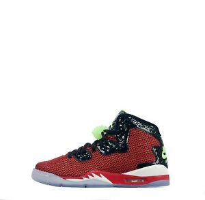 Air Jordan Spike Forty Junior Youth Lace up Trainers Shoes Red Green