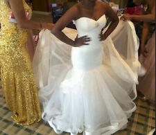 Sweetheart Mermaid Wedding Dresses White/Ivory Tulle Bridal Gown Custom all Size