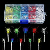 200Pcs 3mm 5mm LED Light White Yellow Red Blue Green Assortment Diodes DIY Kit
