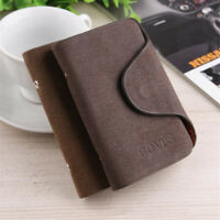 Men Professional Business ID Credit Card Holder PU Leather Wallet Purse 20 Slots