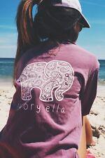 NEW!! Ivory Ella Purple Berry Paisley Long Sleeve T-shirt - Size M