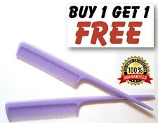 "Lilac Barbers Plastic Pin Tail Hair Comb 8"" Rat Tail Comb UK Quality Pro PKT2"