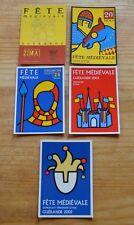 Lot de 5 cartes postales Fête médiévale de Guérande 2000, 2001, 2002, 2003, 2005