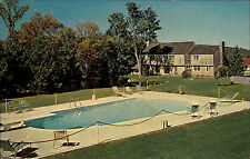 Franconia New Hampshire Amerika Color AK ~1950/60 Flintlock Lodge and Motel