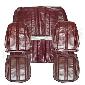 1968 Roadrunner Seat Covers Front & Rear Plymouth GTX Satellite Belvedere MAROON