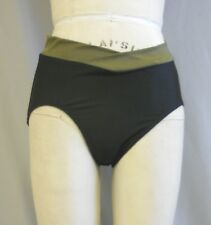 BLACK & OLIVE TRICOT LYCRA/SPANDEX DANCE BRIEF MADE IN MEDIUM WT FABRIC SZ M-MED