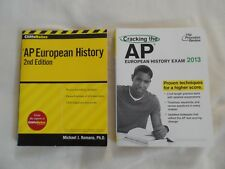 AP European History - Lot of 2 prep books - CliffsNotes - Princeton Review