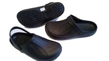 Full Kitchen Clogs Black Chefs Shoes Safety Footwear Garden Slip On Cloggies New